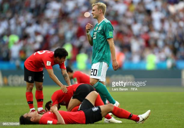 Julian Brandt of Germany looks dejected following his sides defeat in the 2018 FIFA World Cup Russia group F match between Korea Republic and Germany...