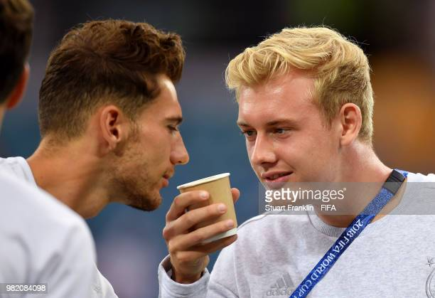 Julian Brandt of Germany looks on during the 2018 FIFA World Cup Russia group F match between Germany and Sweden at Fisht Stadium on June 23 2018 in...