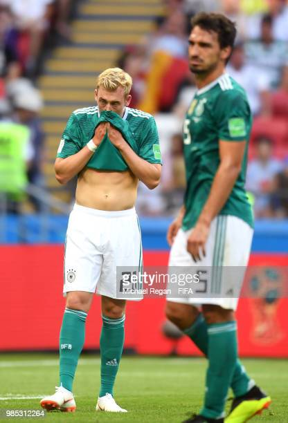Julian Brandt of Germany reacts during the 2018 FIFA World Cup Russia group F match between Korea Republic and Germany at Kazan Arena on June 27 2018...