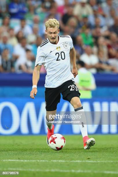 Julian Brandt of Germany runs with the ball during the FIFA Confederations Cup Russia 2017 Group B match between Germany and Cameroon at Fisht...