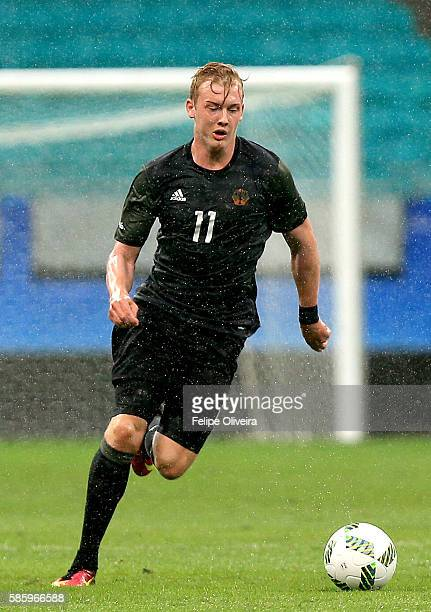 Julian Brandt of Germany runs with the ball during the Men's Group C first round match between Mexico and Germany during the Rio 2016 Olympic Games...