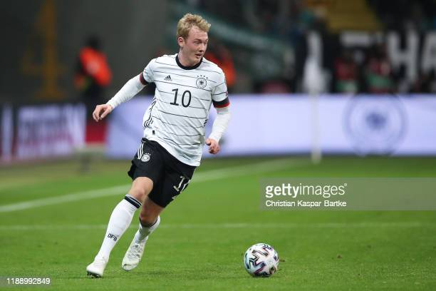 Julian Brandt of Germany runs with the ball during the UEFA Euro 2020 Qualifier between Germany and Northern Ireland at Commerzbank Arena on November...
