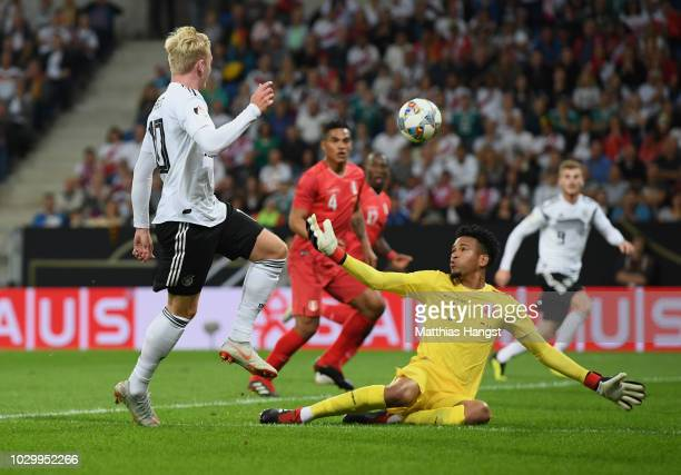 Julian Brandt of Germany scores his team's first goal during the International Friendly match between Germany and Peru on September 9 2018 in...