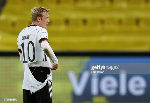 Julian Brandt of Germany waers a torn jersey during the international friendly match between Germany and Turkey at RheinEnergieStadion on October 07,...