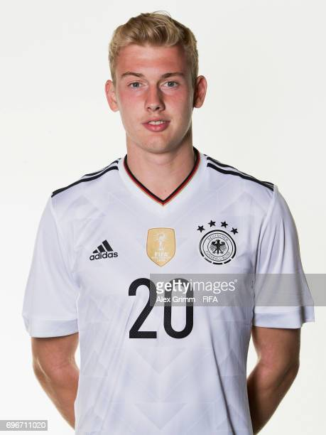 Julian Brandt poses for a picture during the Germany team portrait session on June 16 2017 in Sochi Russia