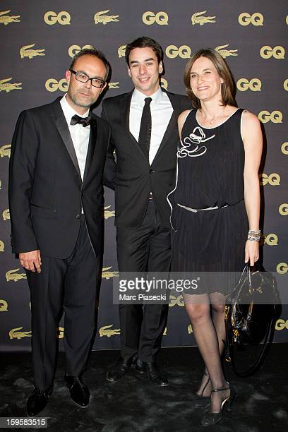 Julian Bugier and his wife Claire Fournier attend the GQ Men of the Year 2012 at Musee d'Orsay on January 16 2013 in Paris France