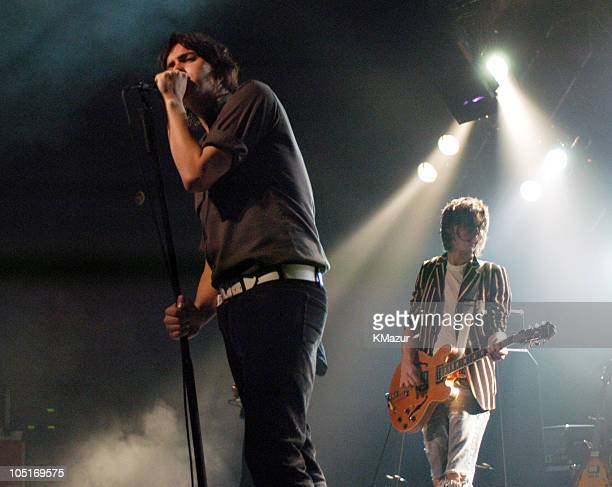 Julian Casablancas and Nick Valensi of The Strokes