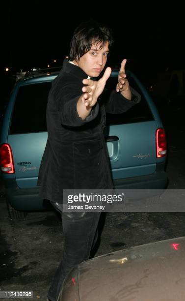 Julian Casablancas of The Strokes during ''Be Well'' Ramones Beat on Cancer Fundraiser Departures at Spirit in New York City New York United States