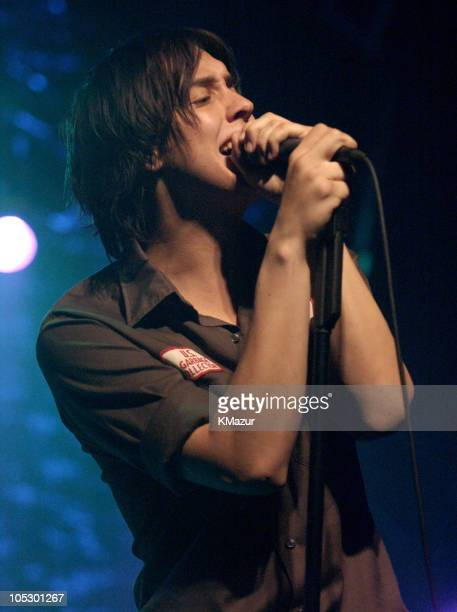 Julian Casablancas of The Strokes during The Strokes in Concert in New York City at The Theater at Madison Square Garden in New York City New York...