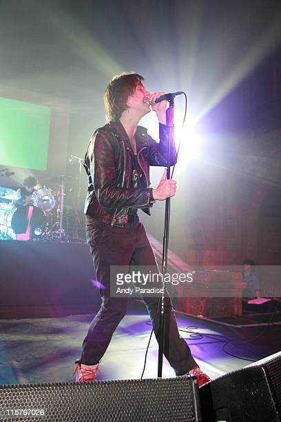 Julian Casablancas of the Strokes during The Strokes Perform at the TMobile Street Gigs Tour July 6 2006 at The Natural History Museum in London...