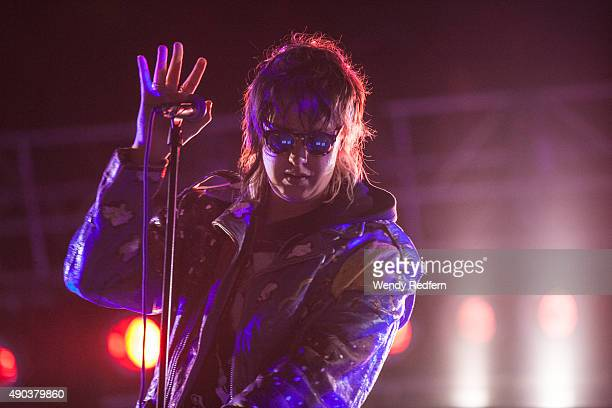 Julian Casablancas of The Strokes performs during the 2015 Landmark Music Festival at West Potomac Park on September 27 2015 in Washington DC