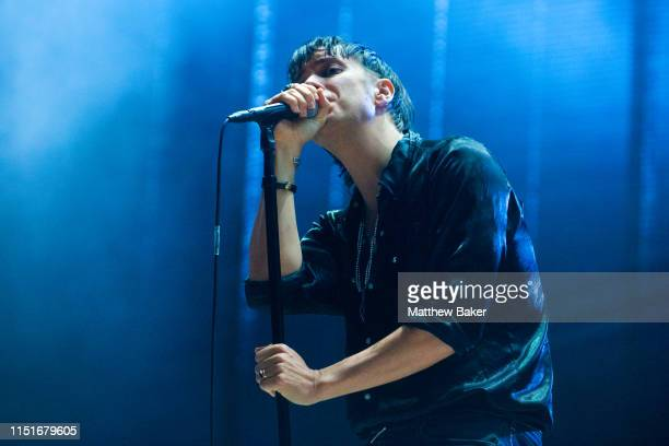 Julian Casablancas of The Strokes performs during the All Points East Festival at Victoria Park on May 25 2019 in London England