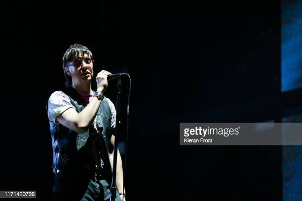 Julian Casablancas of The Strokes performs on stage during Electric Picnic Music Festival 2019 at Stradbally Hall Estate on August 31, 2019 in...