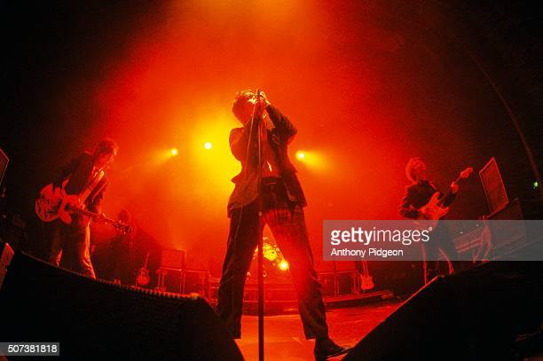 Julian Casablancas of The Strokes performs onstage at the Warfield Theater in San Francisco California USA on 8th April 2005