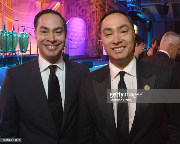 Julian Castro and brother Representative Joaquin Castro at the 41st Annual Congressional Hispanic Caucus Institute Awards Gala on September 13 2018...