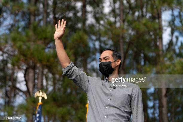 Julian Castro, former secretary of Housing and Urban Development , arrives to speak during a campaign event for Democratic Senate candidate Jon...