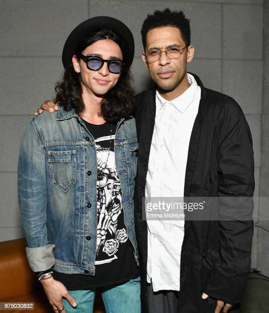 Julian Cihi and Rashad Haughton attend MAC Cosmetics Aaliyah Launch Party on June 14 2018 in Hollywood California