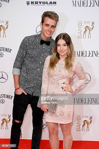 Julian Claßen and Bianca Heinicke arrive at the Bambi Awards 2016 at Stage Theater on November 17 2016 in Berlin Germany