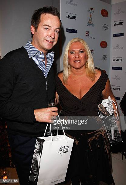 Julian Clary and Vanessa Feltz attend the Sleeping Beauty - VIP Reception held at the St Martins Lane Hotel on December 4, 2008 in London, England.