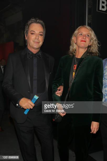 Julian Clary with guest attend The Virgin Holidays Attitude Awards at The Roundhouse on October 11 2018 in London England