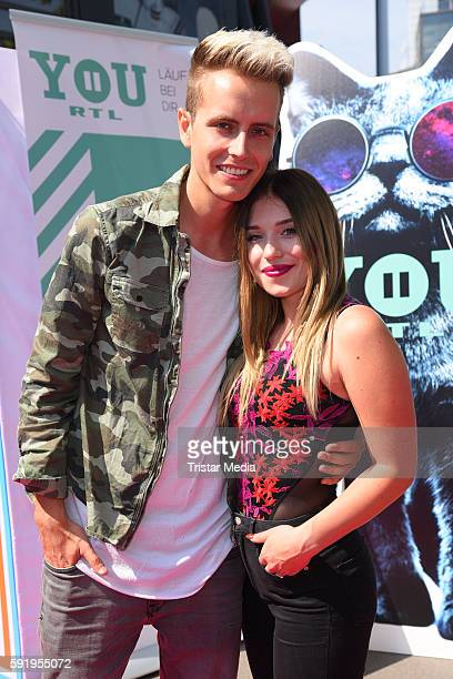 Julian Classen and Bianca Heinicke attend the VideoDays 2016 at Lanxess Arena on August 19 2016 in Cologne Germany