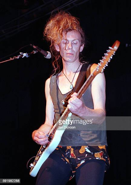 Julian Cope performing on stage at Orkney Islands Scotland 12/13 July 1992