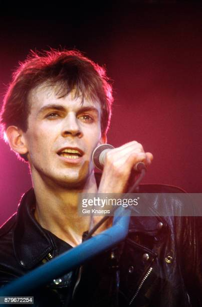 Julian Cope performing on stage Breekend Festival Bree Belgium 18th April 1987