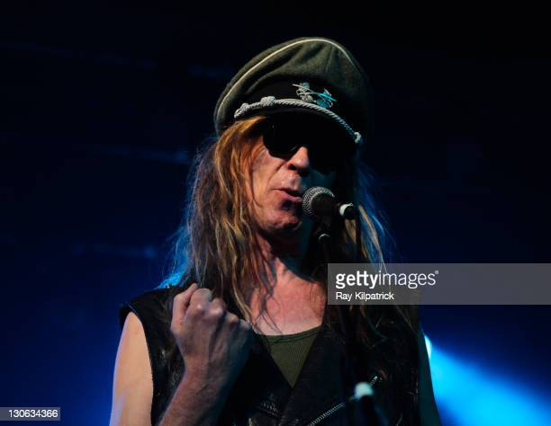 Julian Cope performs on stage at Stanley Theatre on October 27 2011 in Liverpool United Kingdom
