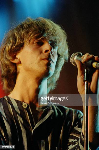 Julian Cope singersongwriter with British band The Teardrop Explodes performs on stage in Nottingham England on August 161981