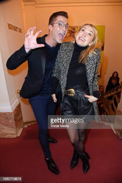 Julian David and Linda Hesse attend the musical premiere of 'Tanz der Vampire' at Theater des Westens on October 21 2018 in Berlin Germany