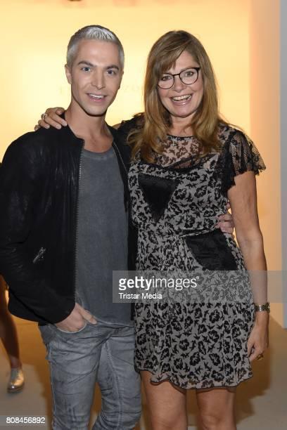 Julian David and Maren Gilzer attend the Ewa Herzog show during the MercedesBenz Fashion Week Berlin Spring/Summer 2018 at Kaufhaus Jandorf on July 4...