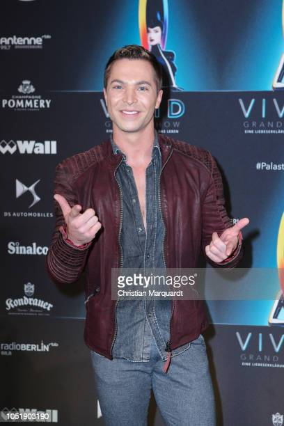 Julian David attends the VIVID Grand Show premiere at FriedrichstadtPalast on October 11 2018 in Berlin Germany