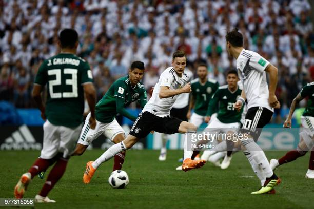 Julian Draxler during the 2018 FIFA World Cup Russia group F match between Germany and Mexico at Luzhniki Stadium on June 17 2018 in Moscow Russia