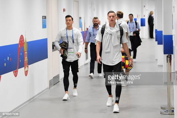 Julian Draxler of Germany arrives at the stadium prior to the 2018 FIFA World Cup Russia group F match between Germany and Mexico at Luzhniki Stadium...