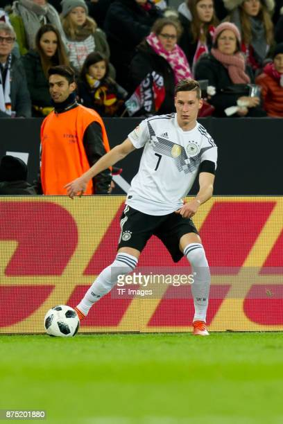Julian Draxler of Germany controls the ball during the International friendly match between Germany and France at RheinEnergieStadion on November 14...