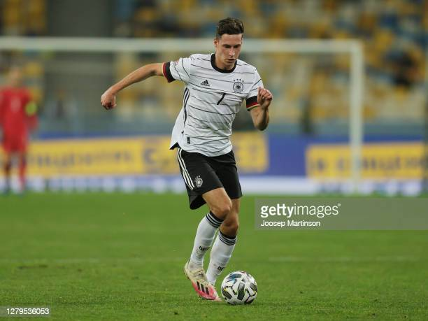 Julian Draxler of Germany controls the ball during the UEFA Nations League group stage match between Ukraine and Germany at NSC Olimpiyskiy Stadium...