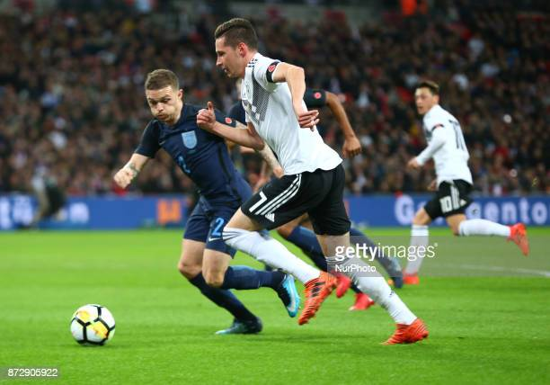 Julian Draxler of Germany during International Friendly match between England and Germany at Wembley stadium London on 10 Nov 2017 Julian Draxler of...