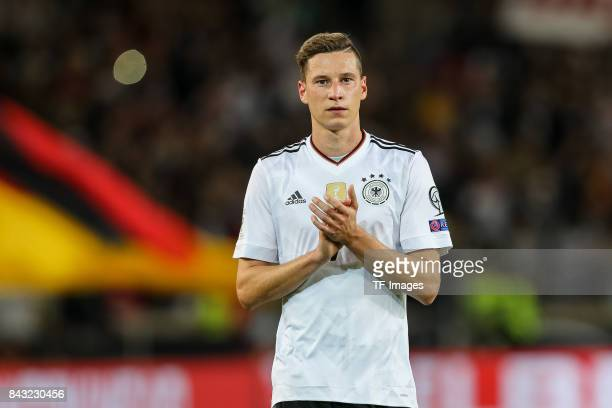 Julian Draxler of Germany gestures guckt during the FIFA 2018 World Cup Qualifier between Germany and Norway at MercedesBenz Arena on September 4...