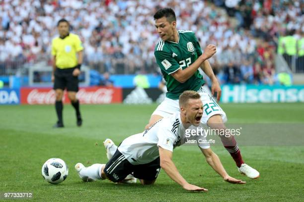 Julian Draxler of Germany Hirving Lozano of Mexico during the 2018 FIFA World Cup Russia group F match between Germany and Mexico at Luzhniki Stadium...