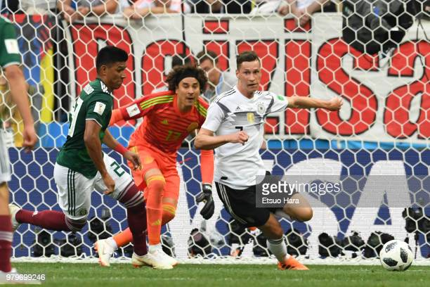 Julian Draxler of Germany in action during the 2018 FIFA World Cup Russia group F match between Germany and Mexico at Luzhniki Stadium on June 17...