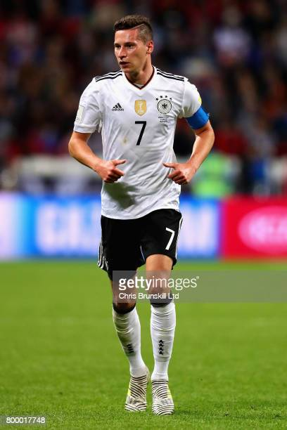 Julian Draxler of Germany in action during the FIFA Confederations Cup Russia 2017 Group B match between Germany and Chile at Kazan Arena on June 22...