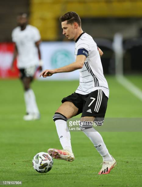 Julian Draxler of Germany in action during the international friendly match between Germany and Turkey at RheinEnergieStadion on October 07, 2020 in...