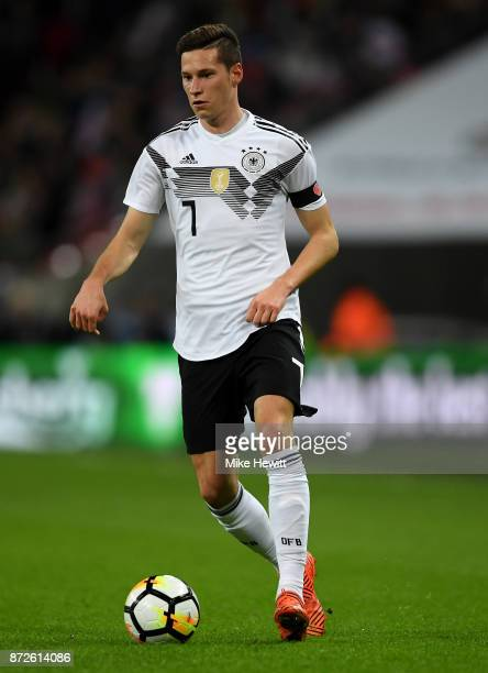 Julian Draxler of Germany in action during the International friendly match between England and Germany at Wembley Stadium on November 10 2017 in...