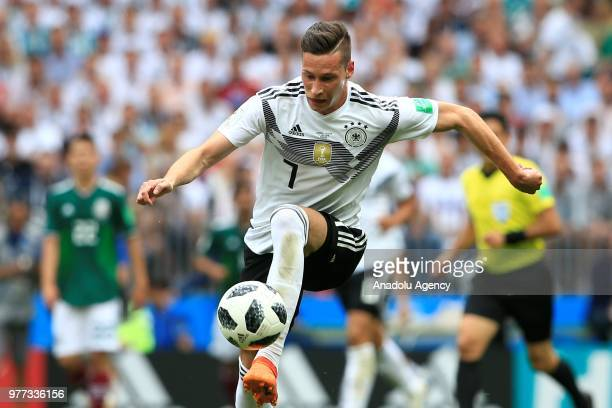 Julian Draxler of Germany is seen during the 2018 FIFA World Cup Russia Group F match between Germany and Mexico at the Luzhniki Stadium Moscow in...