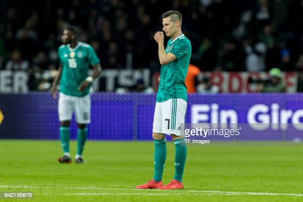 Julian Draxler of Germany looks on during the international friendly match between Germany and Brazil at Olympiastadion on March 27 2018 in Berlin...