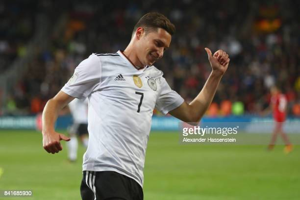 Julian Draxler of Germany reacts during the FIFA World Cup Russia 2018 Group C Qualifier between Czech Republic and Germany at Eden Arena on...