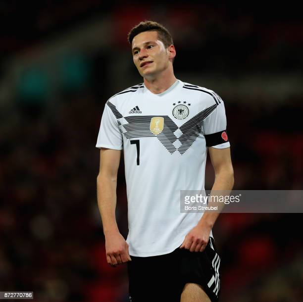 Julian Draxler of Germany reacts during the International friendly match between England and Germany at Wembley Stadium on November 10 2017 in London...