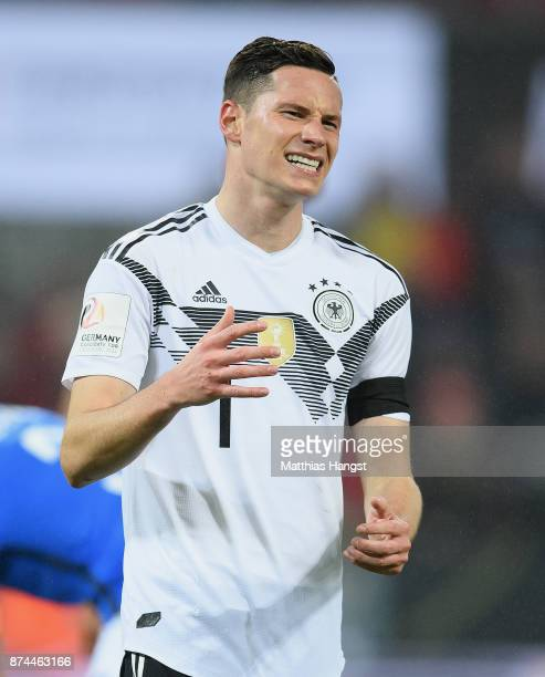 Julian Draxler of Germany reacts during the International friendly match between Germany and France at RheinEnergieStadion on November 14 2017 in...