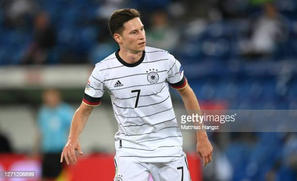Julian Draxler of Germany seen during the UEFA Nations League group stage match between Switzerland and Germany at St. Jakob-Park on September 06,...