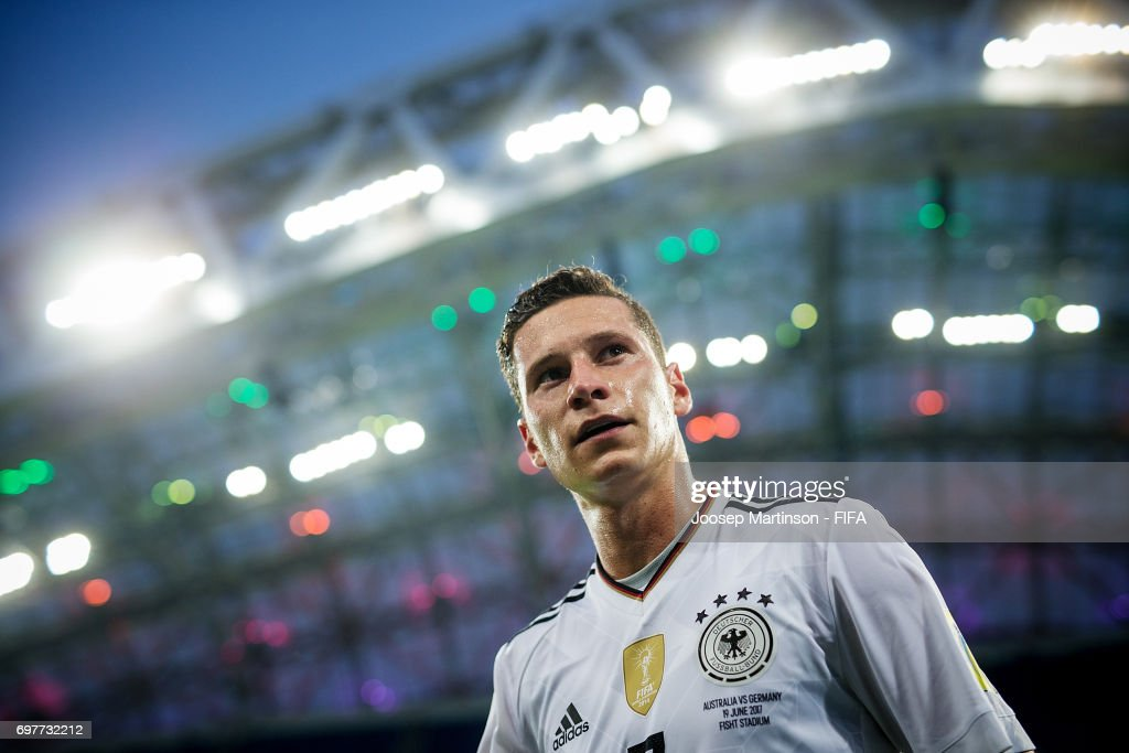 Julian Draxler of Germany walks off the pitch after the FIFA Confederations Cup Russia 2017 group B football match between Australia and Germany at Fisht Olympic Stadium on June 19, 2017 in Sochi, Russia.